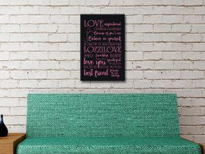 Inspirational Quotes canvas Artwork