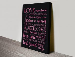 My Inspiration quote canvas-print canvas print