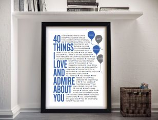All About You Celebration Wall Art in Blue