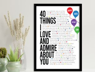 All About You Celebration Print on Canvas