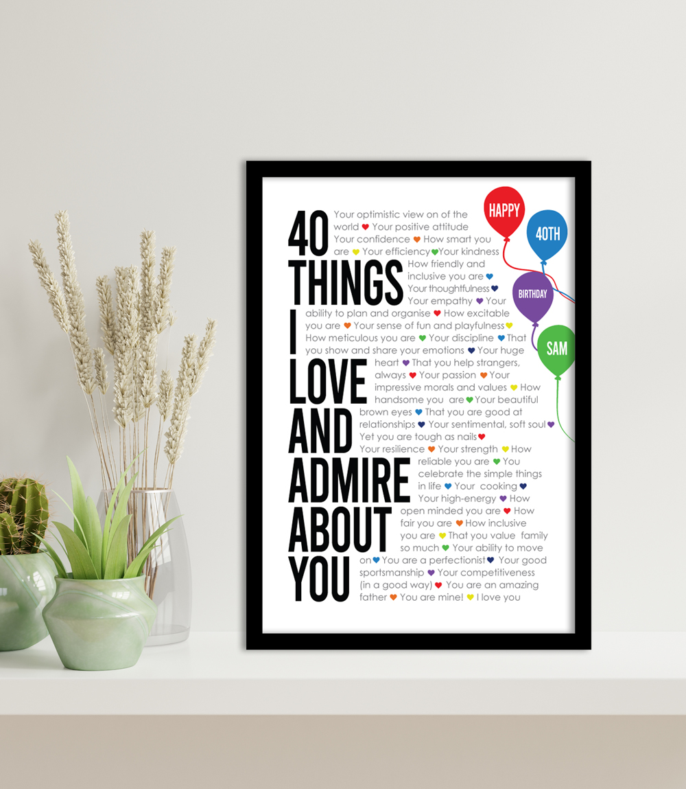All About You Celebration Print on Canvas | All About You Bespoke Art