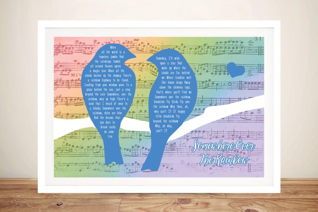 Songbirds Colourful Custom Canvas Art