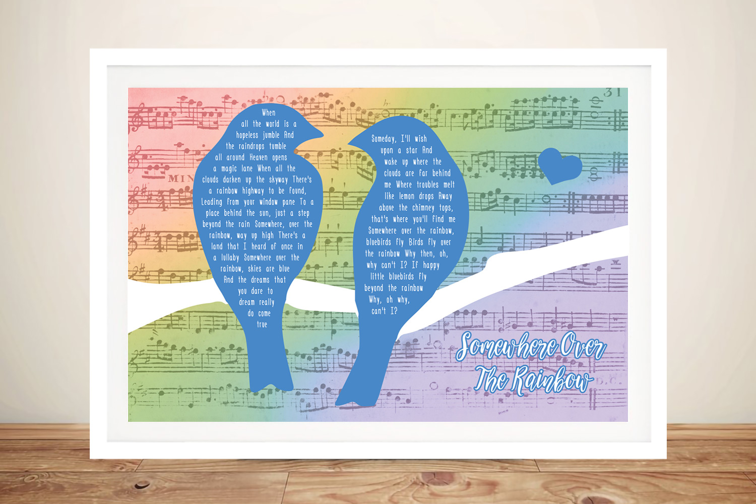 Songbirds Colourful Custom Canvas Art | Songbirds Bespoke Canvas Art