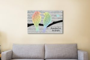Affordable Custom Art with Song Lyrics for Sale