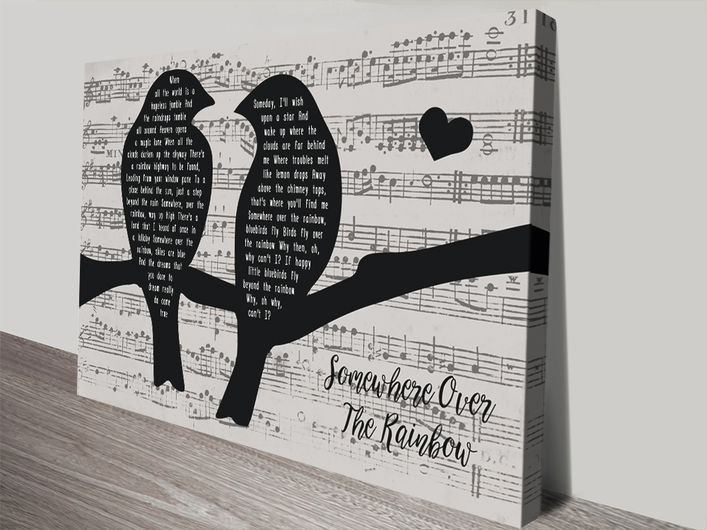 Songbirds Black & White Song Lyrics Artwork AU