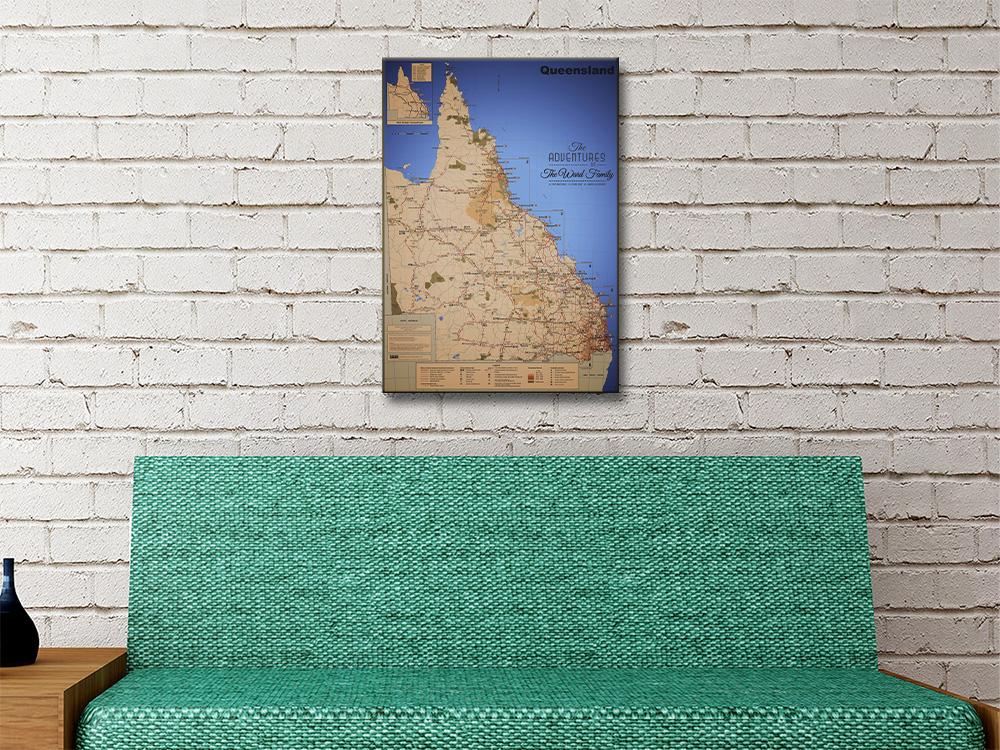 Queensland Custom Map Art Gift Ideas AU