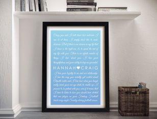 Buy Framed Wedding Vow Art in Powder Blue