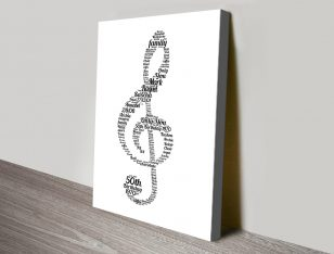 Musical Note Bespoke Print on Canvas