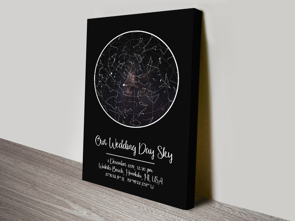Our Wedding Day Sky Bespoke Star Chart
