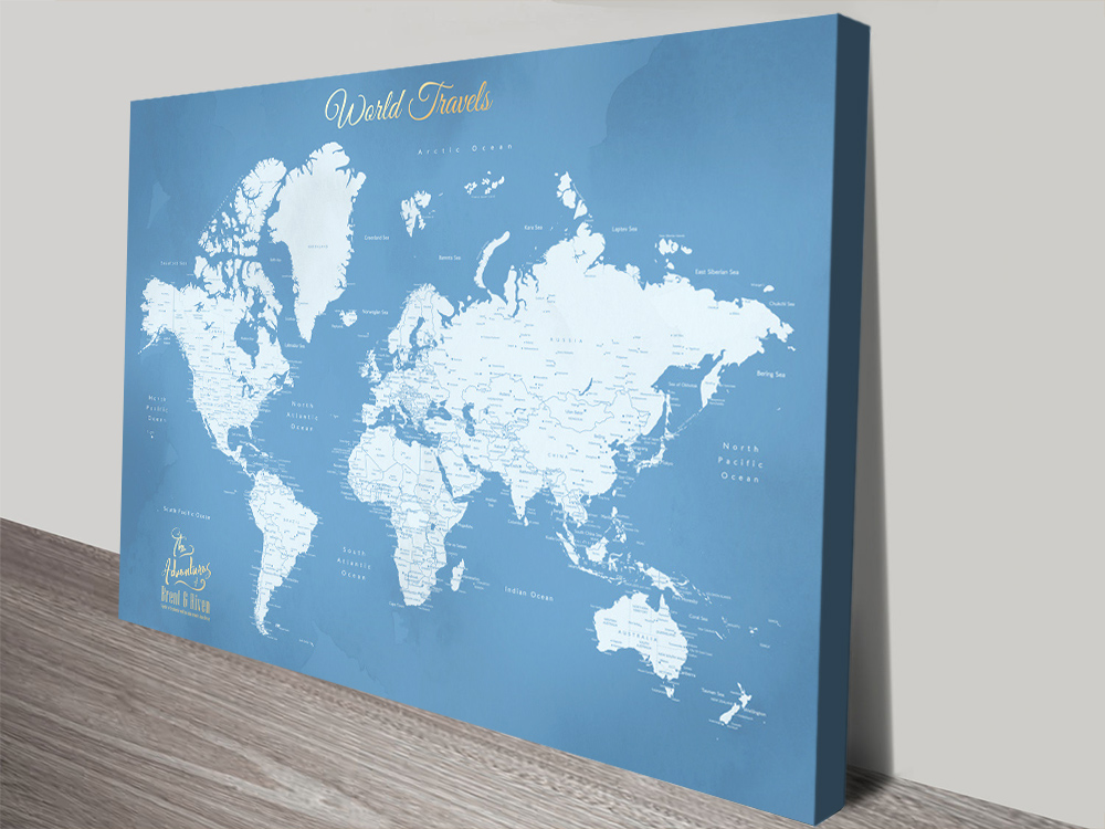 Affordable Custom World Maps for Sale AU