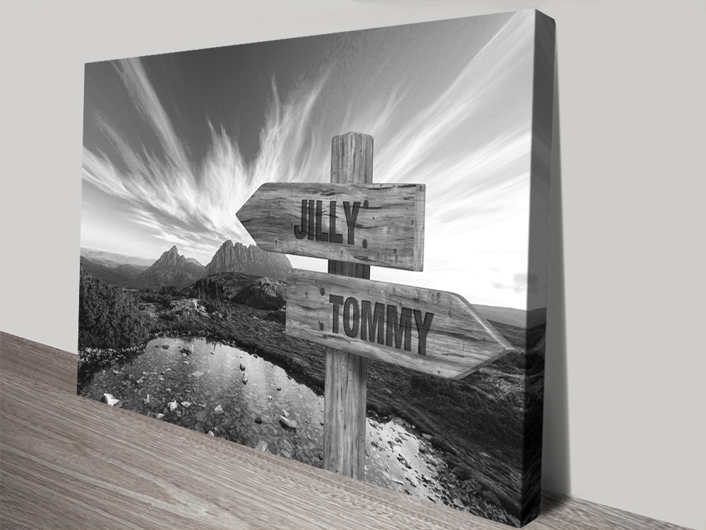 Cradle Mountain Bespoke Black & White Art