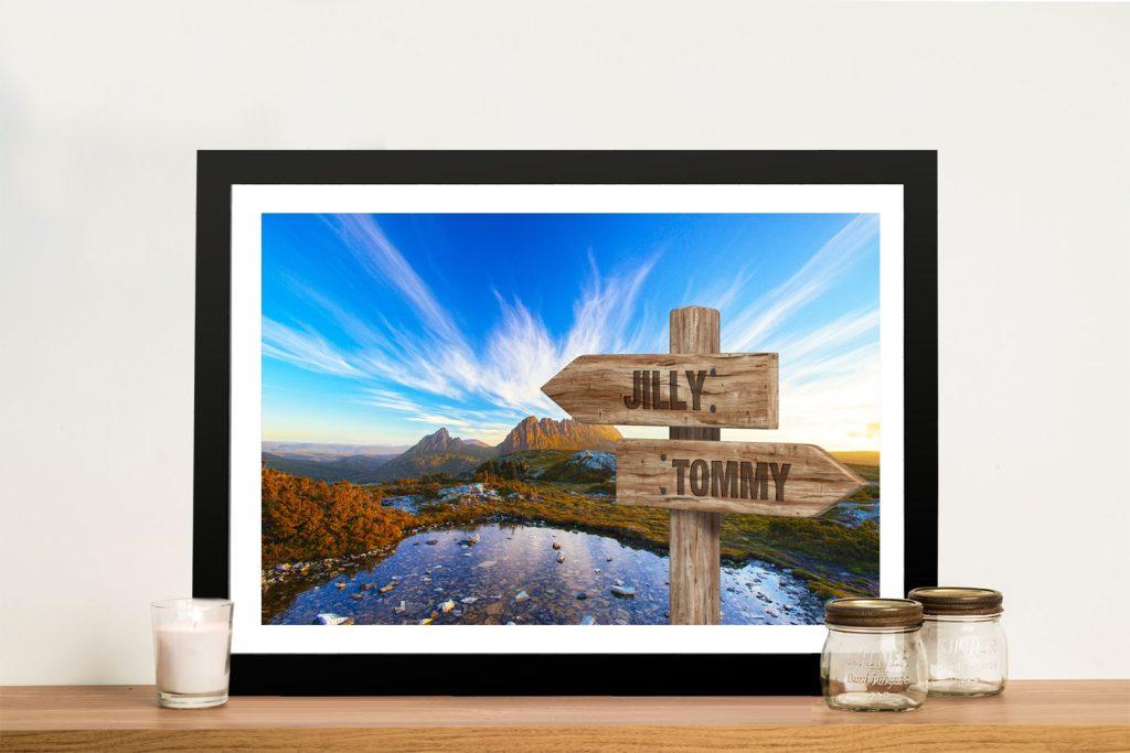 Buy a Cradle Mountain Custom Signpost Print