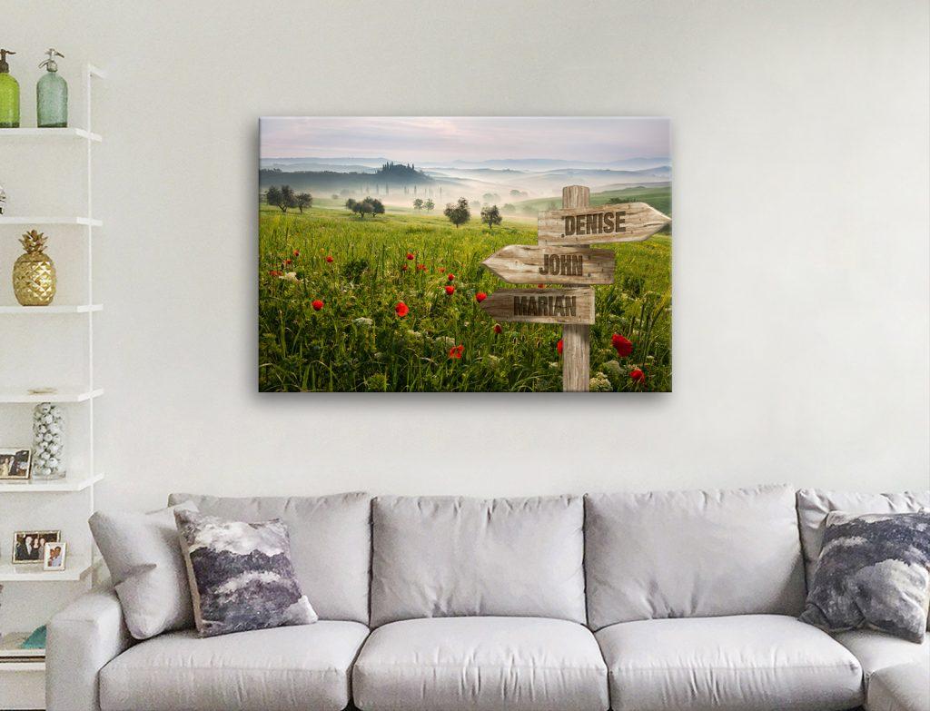 Flower Field Signpost Art Great Gifts Online