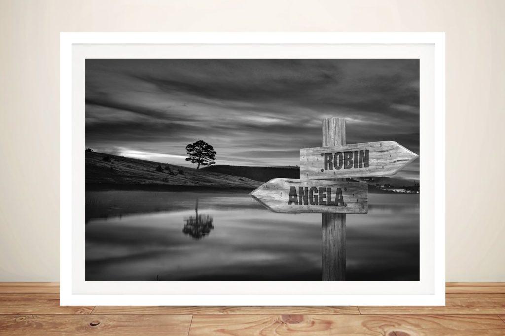 Scenic Custom Signpost Art Unique Gifts Online
