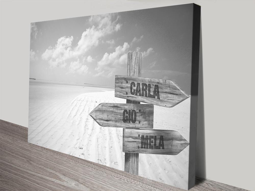 Wooden Signpost Beach Art Great Gifts Online