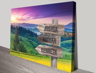 Purple Skies over the Ardennes Custom Art