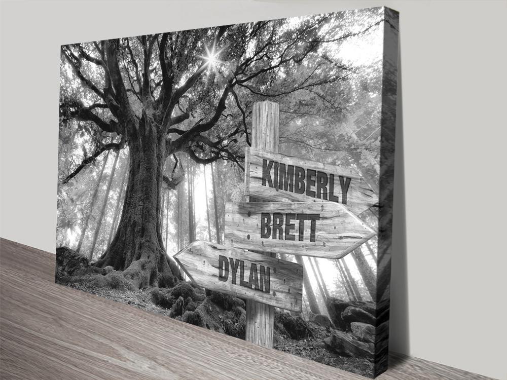 Wooden Signpost Wall Art Wedding Gift Ideas
