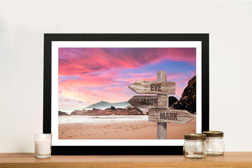 Framed Rose Sunset Art Cheap Custom Prints AU