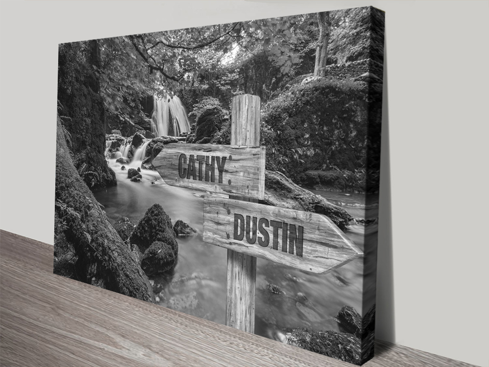 Vintage Forest Waterfalls Wall Art Home Decor AU