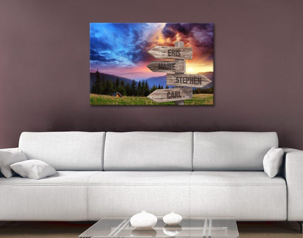 Mountain Sunrise Signpost Print Gift Ideas AU