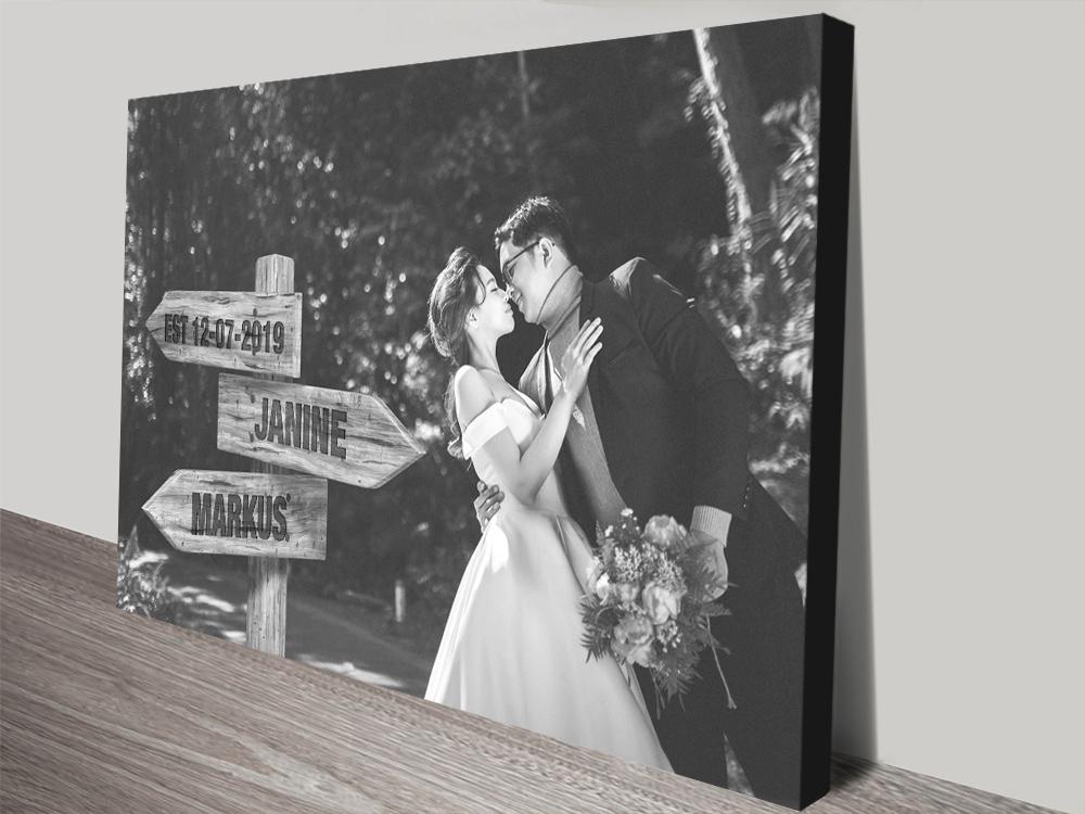 Ready to Hang Wedding Photo Custom Art AU