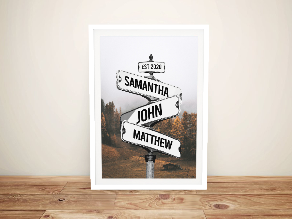 Buy a Framed Forest Custom Signpost Print