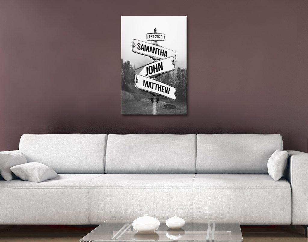 Black & White Scenic Signpost Art Gift Ideas AU