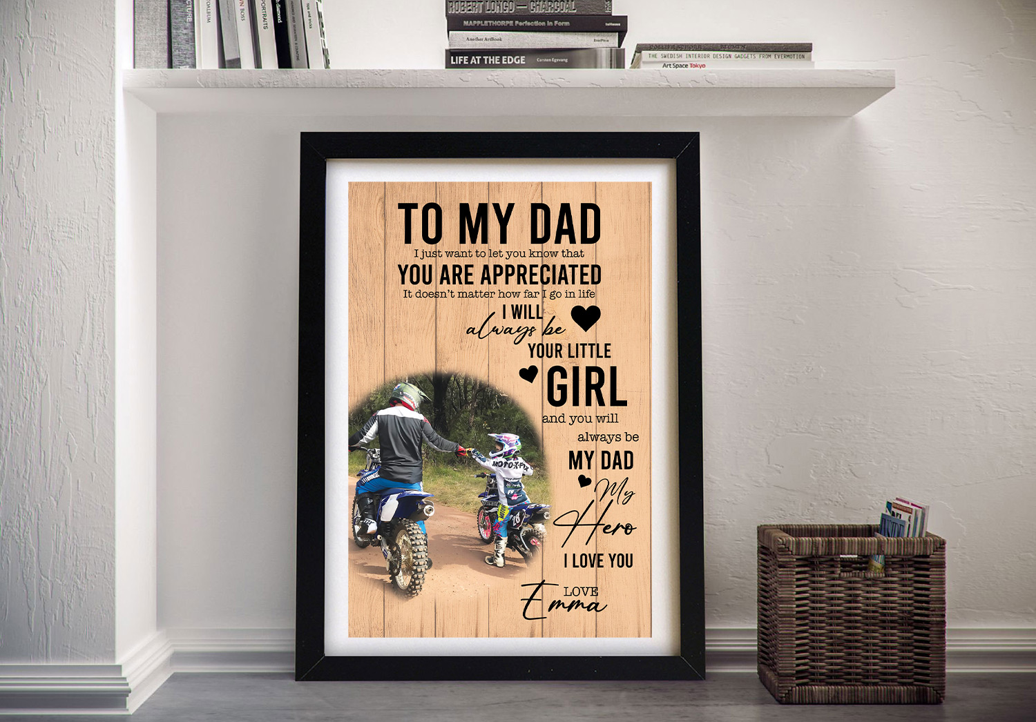 Buy a Framed Fathers Day Canvas Print | To My Dad Custom Art