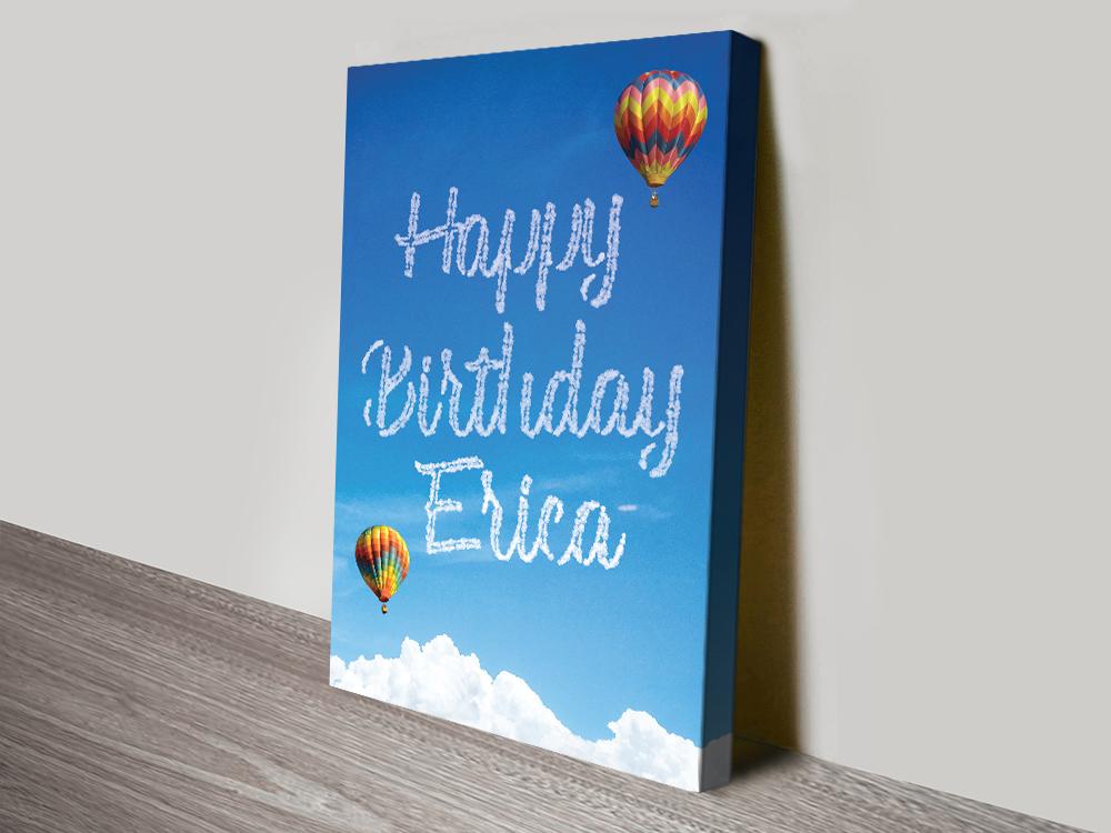 Writing in the Clouds Birthday Custom Print
