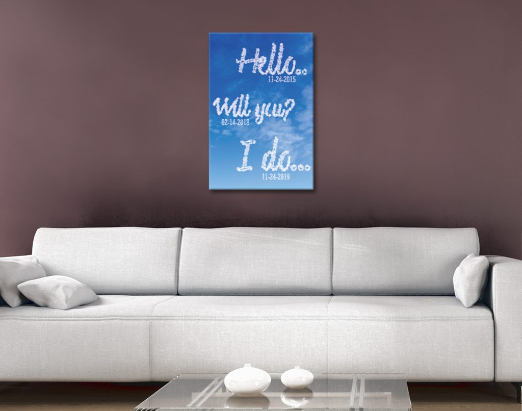 Writing in the Clouds Unique Romantic Gifts