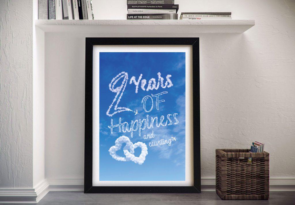 Buy a Framed Happiness Cloud Custom Print