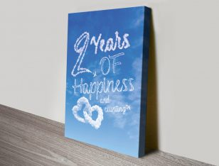 Stretched Canvas Bespoke Happiness Cloud Art