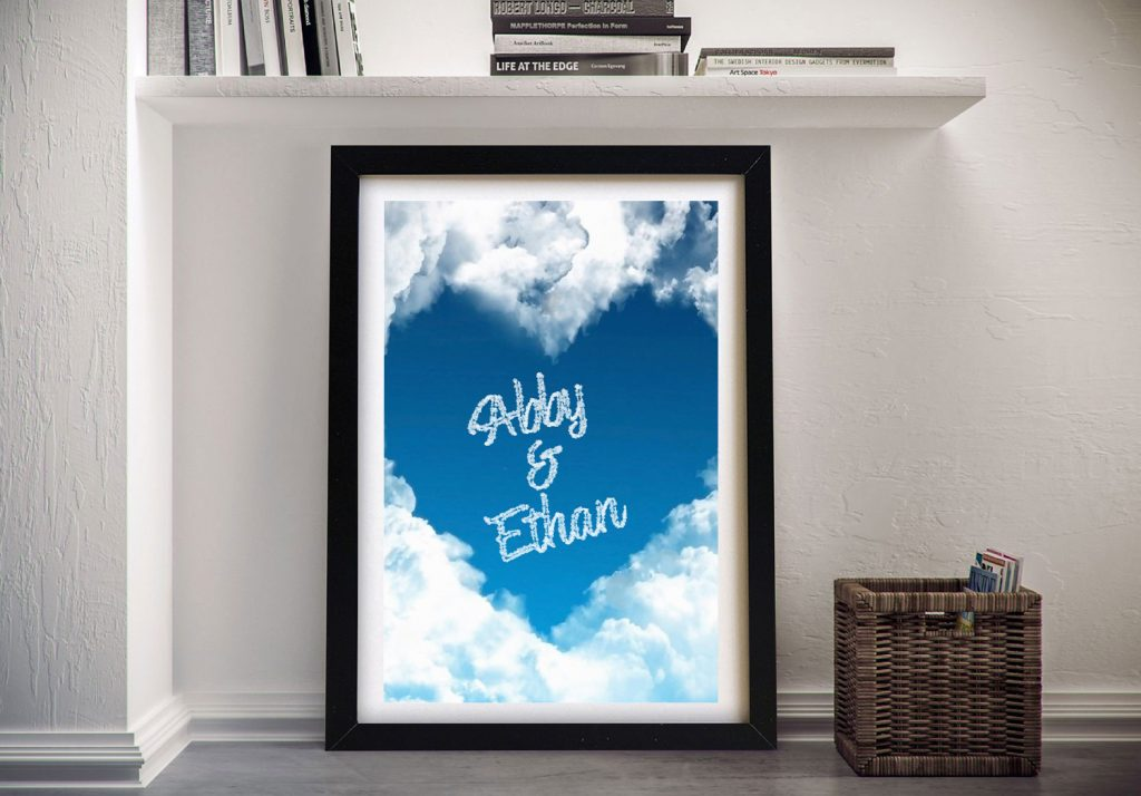 Framed Heart in the Clouds Canvas Print