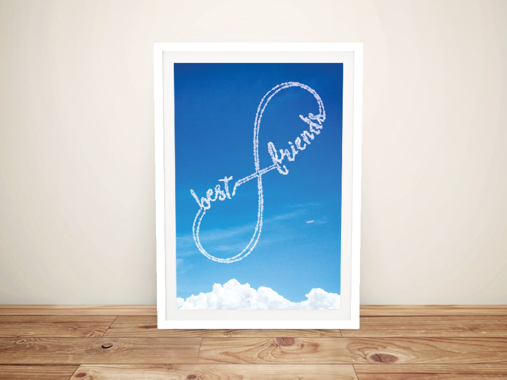 Framed Written in the Sky Infinity Bespoke Art | Personalised Clouds: Infinity