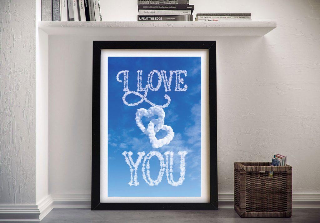 Buy a Framed Love Custom Print Cheap Online