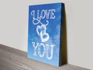Love You Written in the Clouds Custom Art