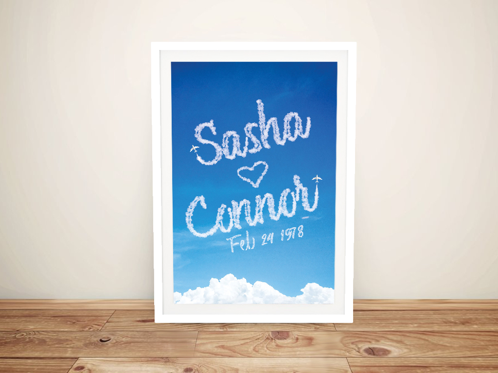 Buy a Names in the Sky Bespoke Print on Canvas