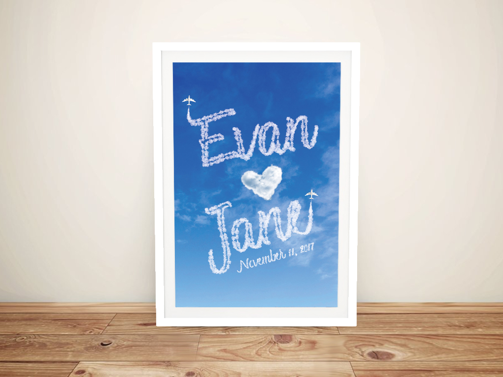 Ready to Hang Personalised Names in the Sky Art
