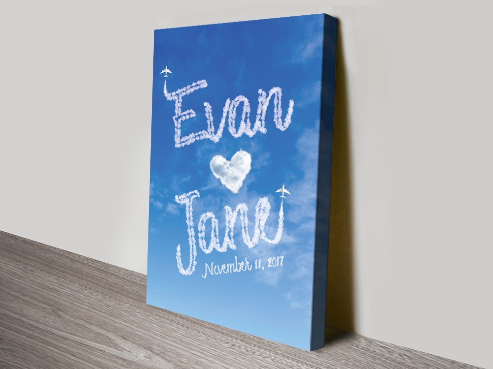 Names in the Clouds Bespoke Romantic Gifts | Personalised Clouds: Names 3