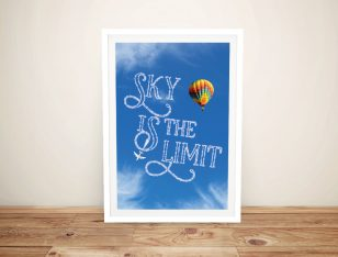 Framed Sky is the Limit Custom Quote Art