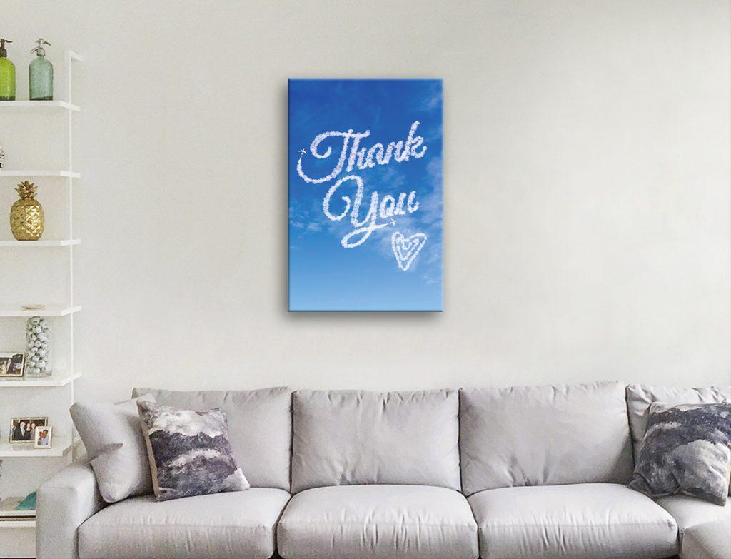 Great Thank You Gift Custom Wall Art Ideas