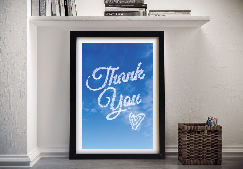 Framed Thank You Personalised Art Gift Ideas