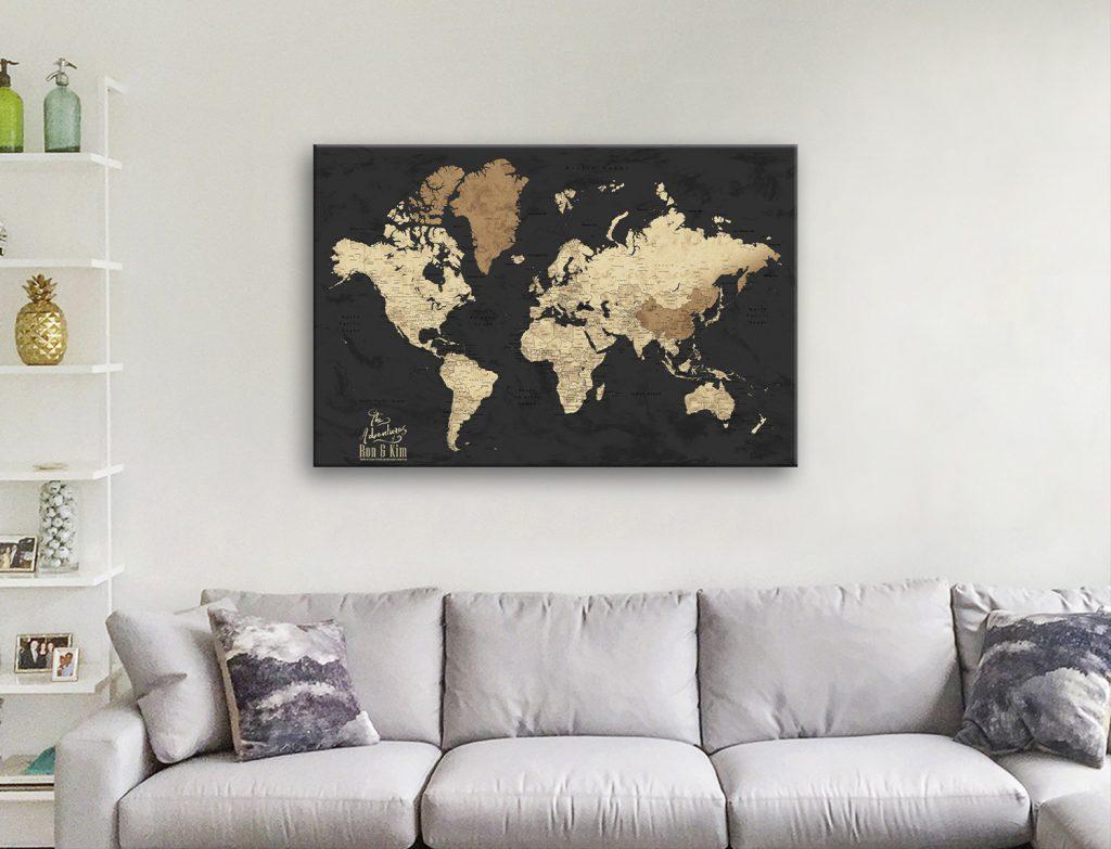 Black & Beige Map Art Unique Gift Ideas Online