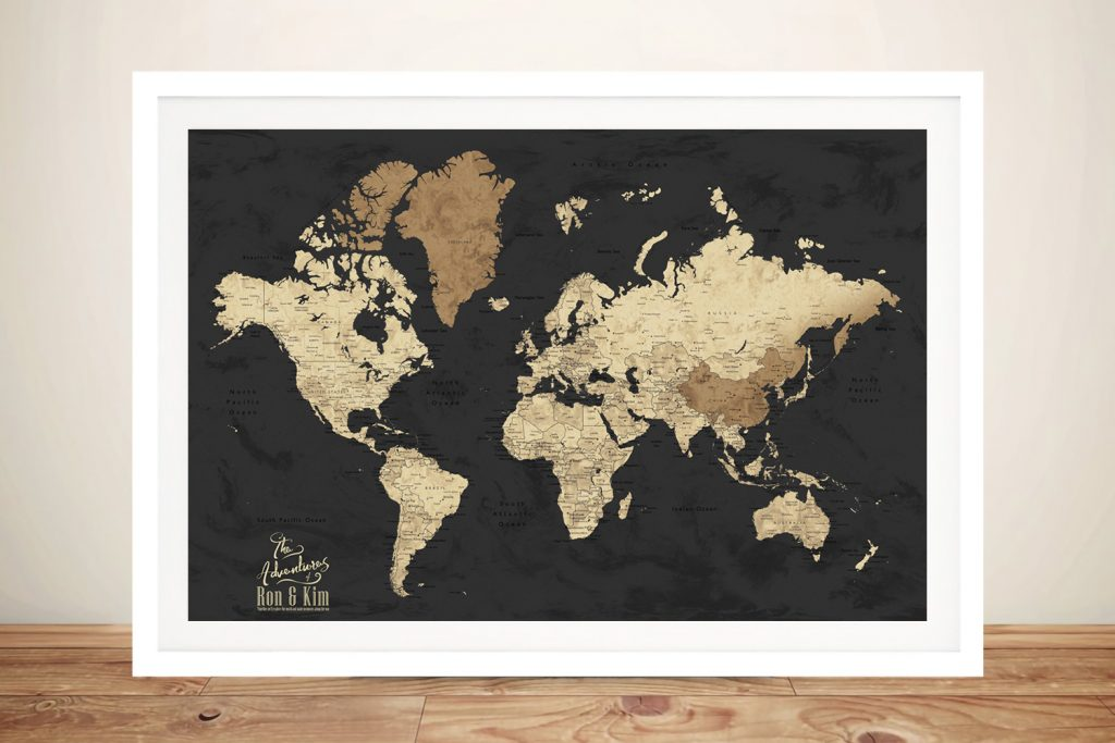 Bespoke Push Pin World Map Gift Ideas AU