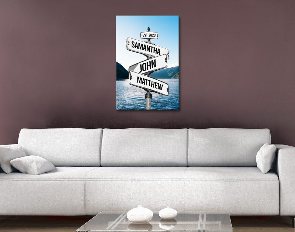 Signpost Bespoke Prints Unique Home Decor AU