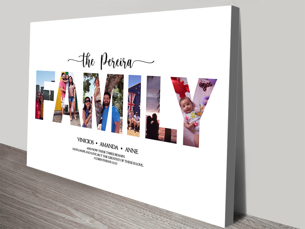Stretched Canvas Custom Family Collage