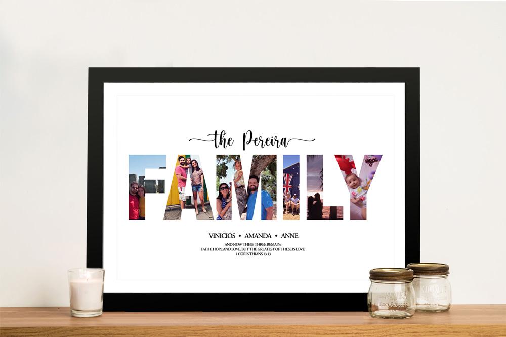 Family Photo Collage Bespoke Wall Art