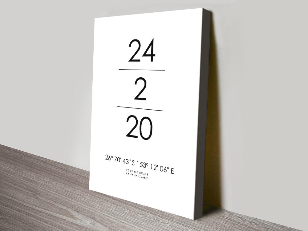 Place & Date Coordinates Art Wedding Gifts AU