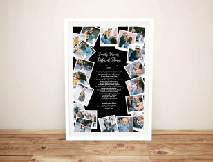 Framed Custom Photo Collage on Canvas