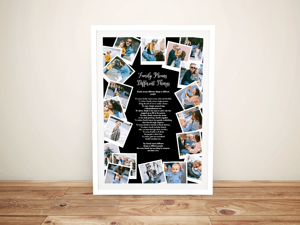 Framed Custom Photo Collage on Canvas | Photo Collage Design